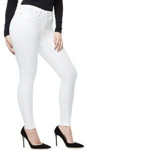 Good American White Good Leg Skinny Jeans